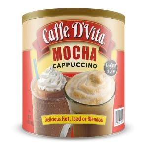 Café Moca Capuccino, Mezcla Caliente o Frío, D'Vita, 1.81 Kg