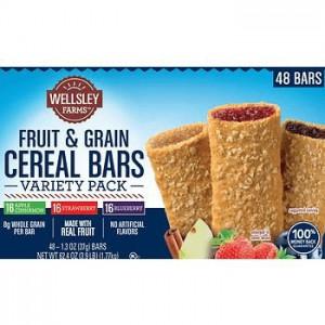 Wellsley Farms Barritas de Cereales Frutas & Granos Paquete de Variedades