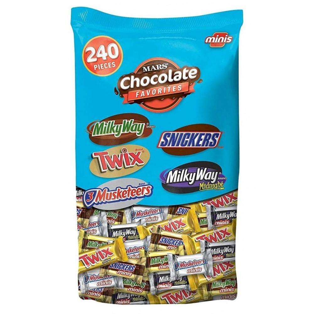 Variedades de Mini Chocolates Mars