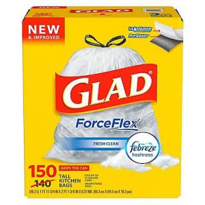 Glad ForceFlex Drawstring Trash Bag