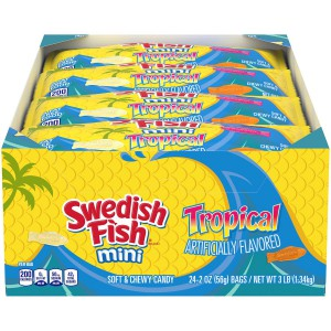 Gomitas Swedish Fish Mini Tropical Soft & Chewy Candy