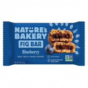 Barra Nature's Bakery Fig Bar Arándano.