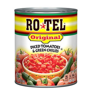 Tomates y ajíes verdes en cubos Rotel