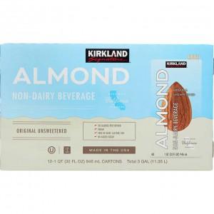 Bebida de almendras sin azúcar Kirkland Signature