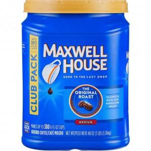 Café molido tostado Maxwell House