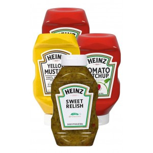 Condimentos Heinz Paquete 4 uni