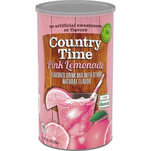 Country Time Pink Lemonade Mix.