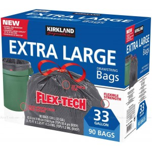 Bolsas de basura Flex-Tech extra larga, Kirkland Signature