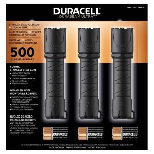 Linternas Duracell 500 Lumen LED 3 Unidades