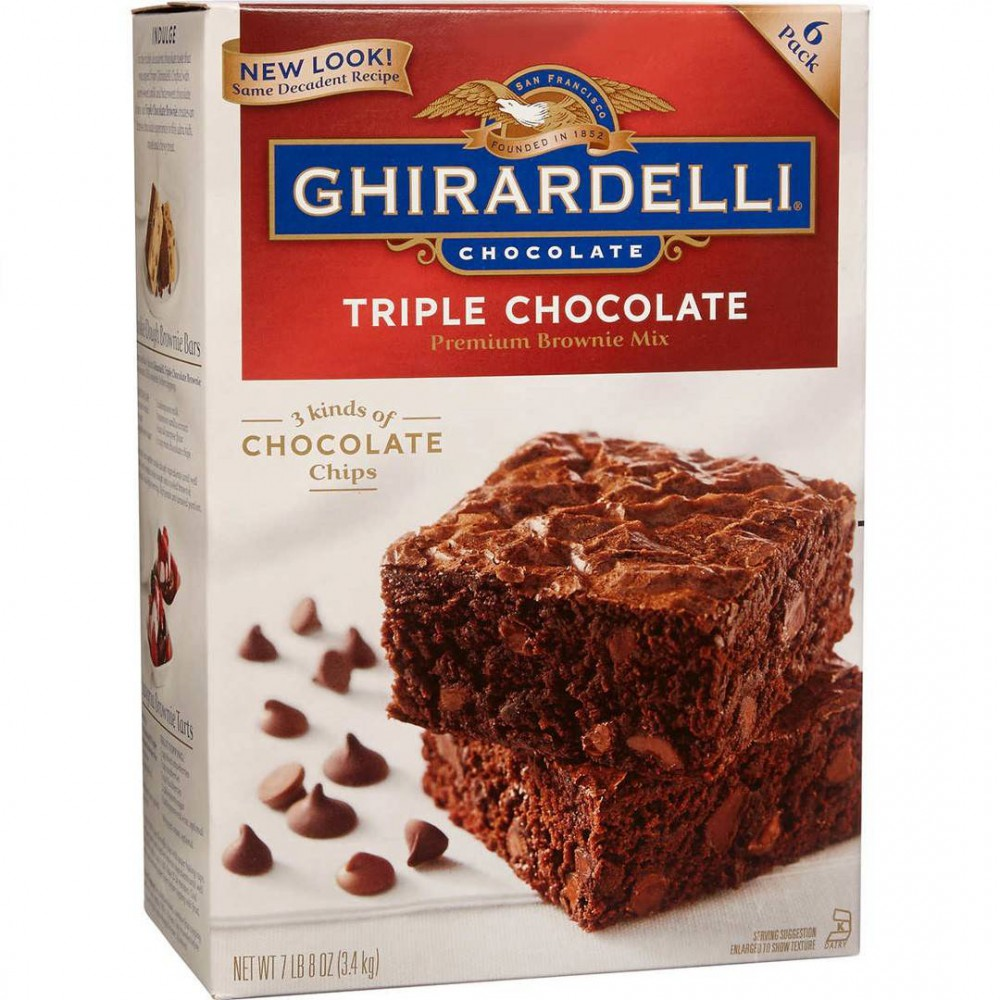 Brownie Mix Ghirardelli triple chocolate 3.4 Kg
