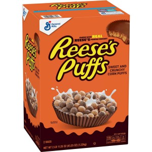 Reese's Puffs Cereal Peanut Butter chocolate