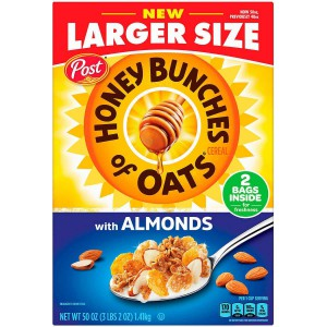 Cereal Honey Bunches of Oats con Almendras