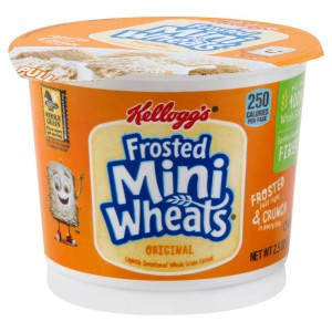 Kellogg's Breakfast Cereal in a Cup Frosted Mini Wheats
