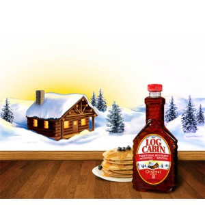 Jarabe de Maple Log Cabin Original