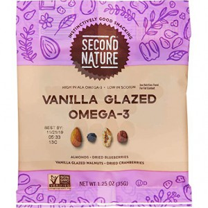 Mix de berries y frutos secos Second Nature Vanilla Glazed Omega-3.