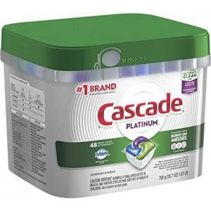 Cápsulas de lavavajillas Cascade Platinum Action Pacs Fresh.