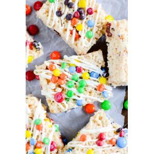 Barritas Rice Krispies Treats con M&M's