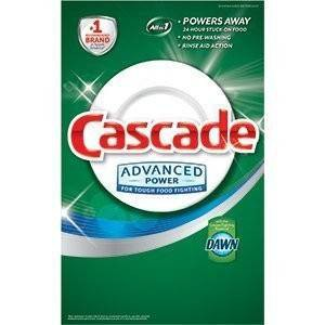 Detergente Lavaloza Cascade Advanced Power Gel.