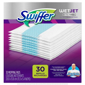 Mopas para Pisos Swiffer WetJet Hardwood Floor Spray Mop Pad Refill Extra Power