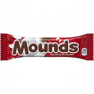 Caja de barras de coco con chocolate negro Mounds