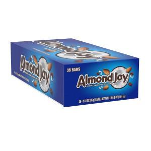 Barras de Chocolate Relleno con Coco y Almendras Almond Joy Caja 36 uni