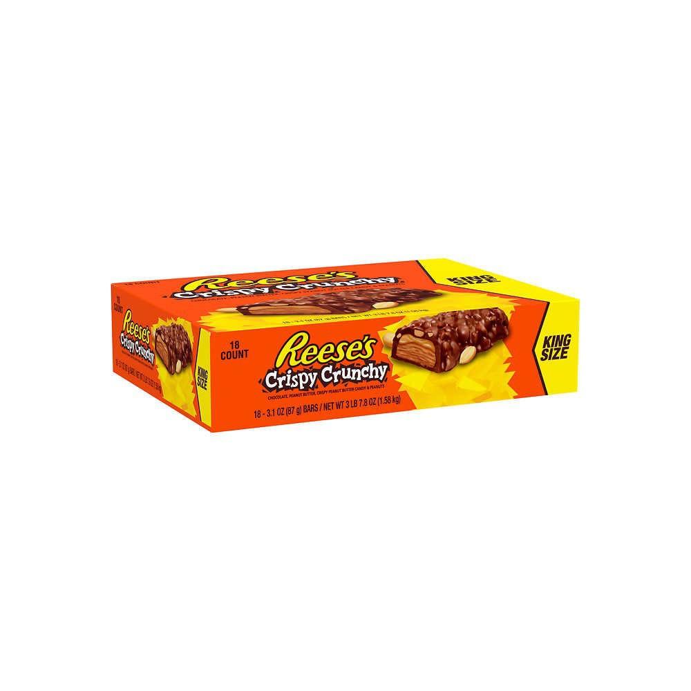Barras de Mantequilla de Maní bañadas en Chocolate Reese Crispy Crunch