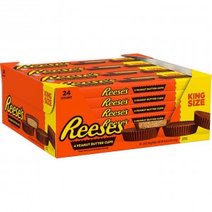 Chocolates con Mantequilla de Maní Reese's King Size Caja 24 uni