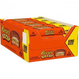 Chocolates con Mantequilla de Maní Reese's Big Cup King Size Caja 16 uni