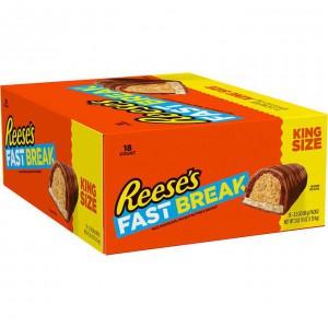 Barras de Chocolate con Mantequilla de Maní y Nougat Reese's Fast Break Caja 18 uni