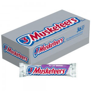 Caja de barras de chocolate 3 Musketeers