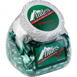 Chocolates con crema de menta Andes