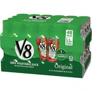 V8 100% Vegetable Juice, Original, 48*163ml