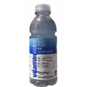 Agua Vitamin Water Zero Ice Glacéau Sabor arándano